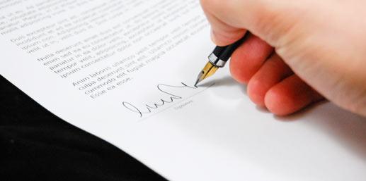 Unterschrift AV-Vertrag DSGVO