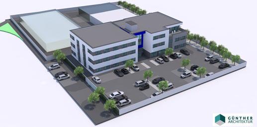 VegaSystems Neubau mit Rechenzentrum