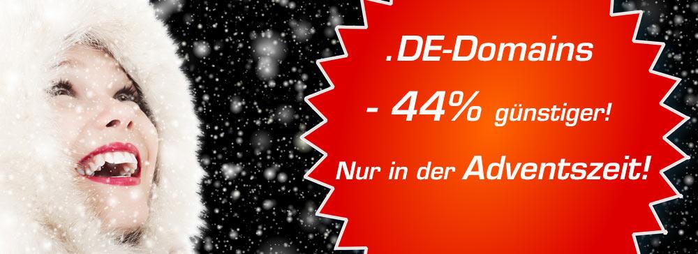 DE-Domains jetzt 44% günstiger