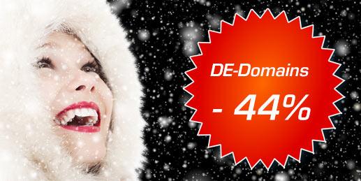 Bei DE-Domains jetzt 44% sparen