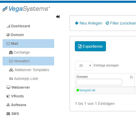 E-Mail Alias anlegen