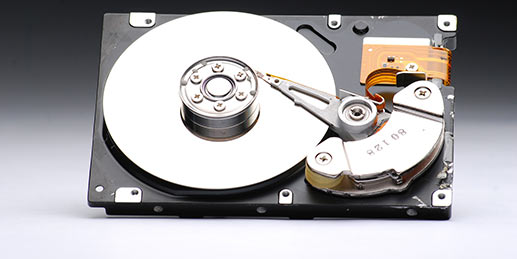 Wir übernehmen die Zerstörung alter Datenträger
